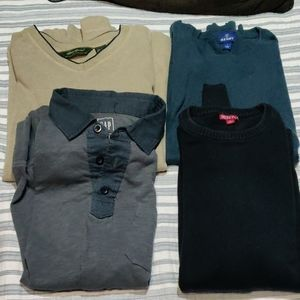 Bundle of 4 Long Sleeve Shirts All Size Large